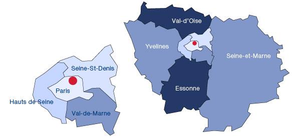 Implantation des entrepôts TAFANEL en Ile de France