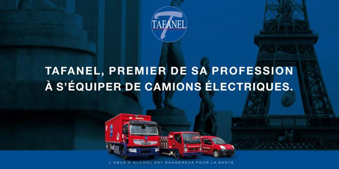 Tafanel, premier de sa profession à s'équiper de camions électriques