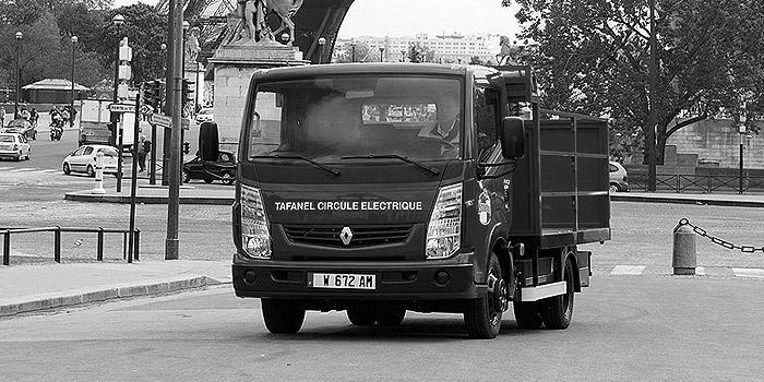 Camion de livraison 100% électrique